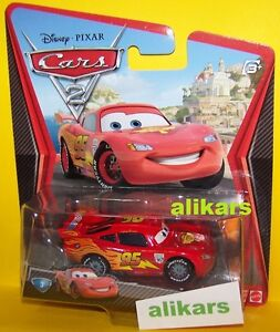 A - LIGHTNING McQUEEN with RACING WHEELS - #3 No 95 Disney Cars 2 racer auta toy
