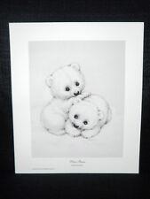 """Ruth Morehead """"Polar Bears"""" Cute Adorable Open Edition Animal Art Lithograph"""