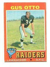 1971 Topps #258 Gus Otto Oakland Raiders Fair