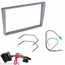 VAUXHALL MERIVA A 2004-2010 SILVER DOUBLE DIN FASCIA FACIA FITTING PACKAGE KIT