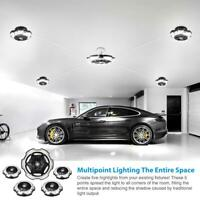 120W LED Garage Light Round 5-head Lighting Brightness E26/E27 Night Lamp New