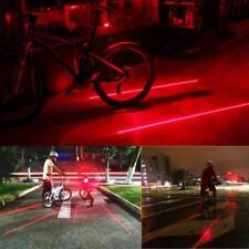 Fahrrad Rücklicht Laser 5 LED Warnleuchte Alarm Licht Fahrradlampe Fahrradlicht