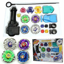 Fusion Top Metal Master Fight Rapidity Rare Beyblade + Launcher Set Kids Toys