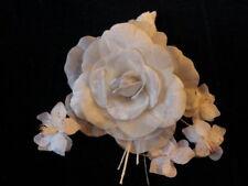 "Vintage Millinery Flower Collection 2"" -6"" White Velvet German H1919"