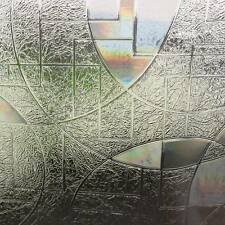 90x50cm 3D Static Cling Home Window Film Stained Glass Paper Frosted Decorative