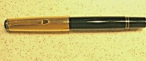 BRAND NEW HARD TO FIND PELIKAN BLACK M650 FOUNTAIN PEN WITH VERMEIL CAP