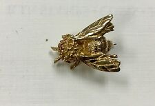 {Bjstamps} 14K Gold pin Honey Bee with Ruby eyes Insect Estate Bug 4.2 grams
