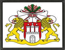 Wappen von Hamburg Aufnäher, Pin, Aufbügler Höhe 7cm x Breite 10cm