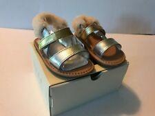 NEW UGG I Dorien Metallic Sandals Gold & Silver Sz 4/5 M Infant 12 To 18 Months