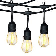 Hykolity 48FT LED Outdoor String Lights for Backyard Porch Garden Pergola