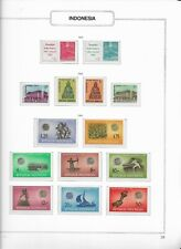 1963 MNH Indonesia selection according to  album page, postfris**