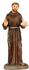 SAINT FRANCIS 125mm RESIN STATUE - CRUCIFIXES CANDLES PICTURES ARE ALSO LISTED