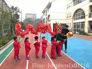 10.3m kid Chinese Culture Folk DRAGON DANCE LED light Dragon Costume stage prop