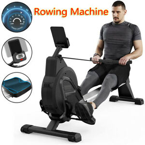 Foldable Magnetic Rowing Machine 16-gear Resistance for Home Gym Cardio Exercise
