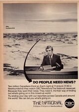 "Vintage 1974 CBC ""The National"" Lloyd Robertson Classic Print Advertisement"