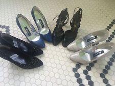 4 Pair Vintage Ladies High heel Shoes Size 5