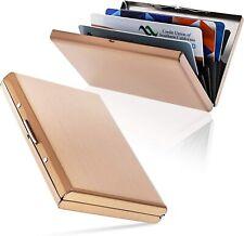 RFID Credit Card Holder Protector Metal Credit Card Case Wallet Rose Gold