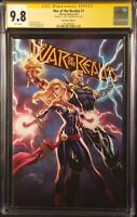 WAR OF THE REALMS #1 CGC SS 9.8 CAMPBELL VARIANT THOR CAPTAIN MARVEL IRON MAN