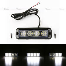 4 LED White Bright Car  Truck Emergency Beacon Light Bar Hazard Strobe Warning