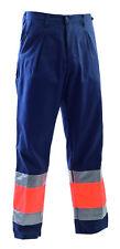 Pantalone da lavoro linea alta visibilità con bande rifrangenti Classe 1