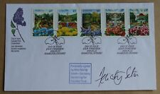 CANADA PUBLIC GARDENS 1991 FDC SIGNED BY FELICITY SETON GARDENING FOR DISABLED