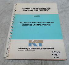 Kearney & Trecker Control Maintenance Manual Supplement, Pub 699E, Used