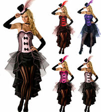 Burlesque Moulin Rouge Can Can Fancy Dress Costume Corset Outfit UK Size 8-10