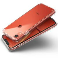 For iPhone XR Ringke [FUSION] Slim Hybrid Shockproof Clear Protective Cover Case