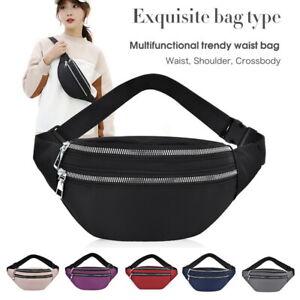 Womens Mens Sport Waist Bags Pouch Pack  Fanny Bag Bum Zip Belt Running Travel