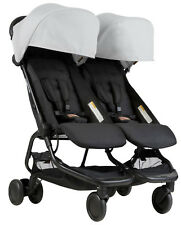 Mountain Buggy Nano DUO Double Stroller In Silver Brand New!! Free Shipping!!