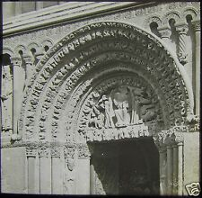 Glass Magic Lantern Slide WEST DOOR ARCH NO2 ROCHESTER CATHEDRAL C1900 PHOTO