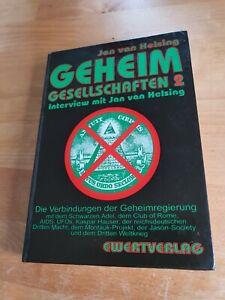 JAN VAN HELSING GEHEIMGESELLSCHAFTEN 2 - Interview mit van Helsing - UNGELESEN