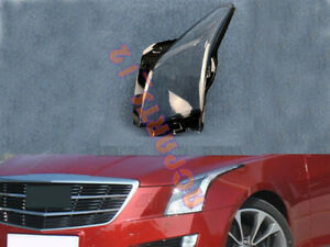 Left Side Transparent Headlight Cover + Glue Replace For Cadillac ATS 14-18