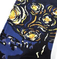 Vincent Van Gogh Starry Starry Night Ankle Socks - Cotton / Spandex