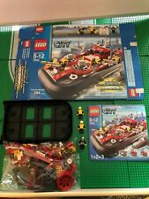 LEGO- CITY- FIRE HOVERCRAFT- 7944- USED- 100% COMPLETE W/ OPEN BOX