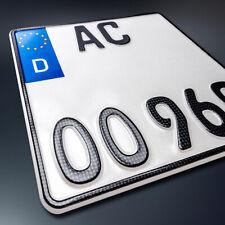 1 CARBON Motorrad Kennzeichen   220 x 200 mm   OFFIZIELLES Nummernschild   DHL