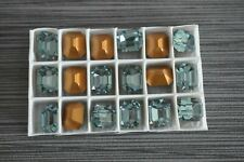 Ind. Sapphire Swarovski 12x10mm Octagon Rhinestones #4600 18 pieces