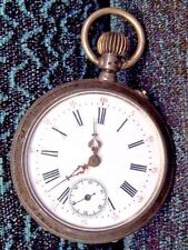 Antique Early 1880's Lds Silver 8.00 Pocket Watch 45mm,