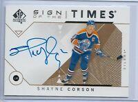 2018-19 SP Authentic Sign of the times autograph Shayne Corson Edmonton Oilers