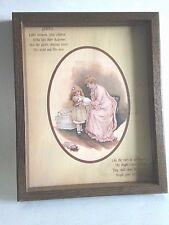 VTG Picture Framed Religious Baby Blessing Christening Northwestern Prod.15X12