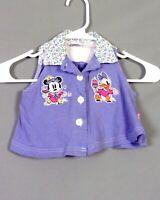 vtg 80s Minnie Mouse & Daisy Duck Disney Mickey Co Sleeveless Top Shirt baby 2T