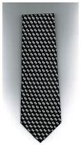 Davvero Benino Mens Tie Polka Dot Black White Micro Fiber 58 x 4 New 1600 Ties