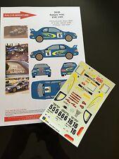 DECALS 1/24 SUBARU IMPREZA WRC THIRY RALLYE MONTE CARLO 1999 RALLY HASEGAWA