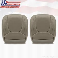 2004 2005 Dodge Ram 2500 Laramie Driver & Passenger Bottom Leather Cover Taupe