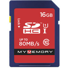 MyMemory 16GB SDHC Memory Card 80MB/s For Digital Cameras New UK