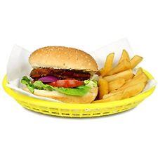 Classic Oval Food Basket Yellow 24x15x5cm (single)