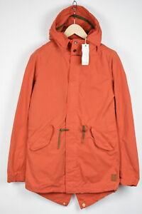 SCOTCH & SODA AMSTERDAM COUTURE Men SMALL Orange Hooded Parka Jacket 18323_