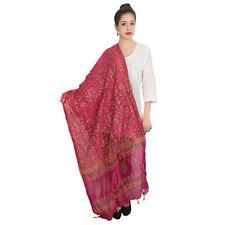 Wrap Womens Ethnic Long Indian Shawl Dupatta chunni Pink Long Scarf Shawl