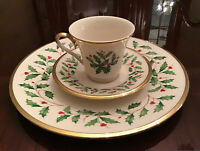 Lenox Holiday Christmas China 3 Piece Setting (See price for all w/bowls)