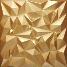 5qm/20 Stück 3D Wandpaneele Deckenpaneele Deckenplatten Platten GOLD